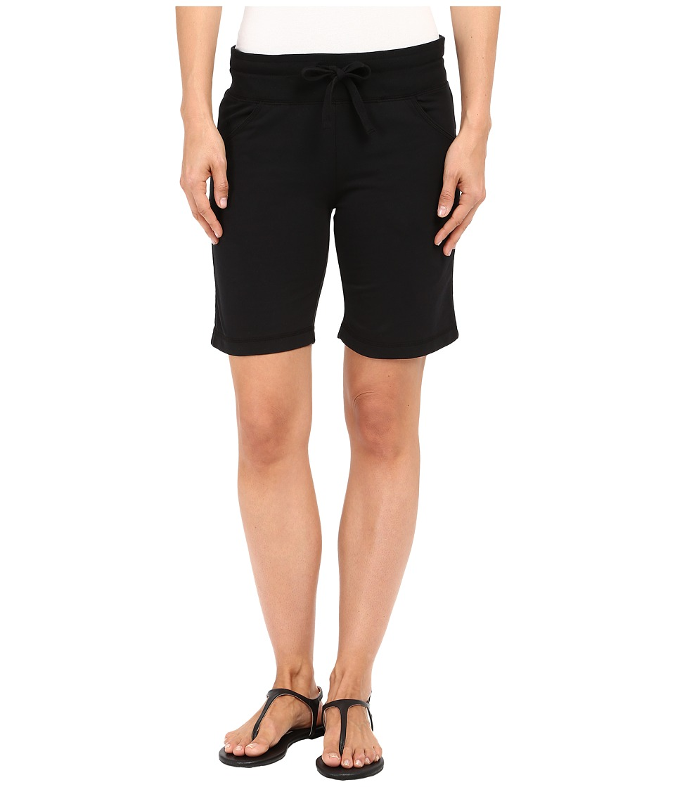 Mod-o-doc - Lightweight Cashmere French Terry Drawstring Pull-On Shorts (Black) Women's Shorts