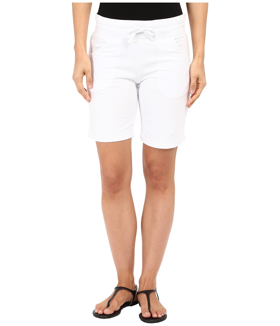 Mod-o-doc - Lightweight Cashmere French Terry Drawstring Pull-On Shorts (White) Women's Shorts