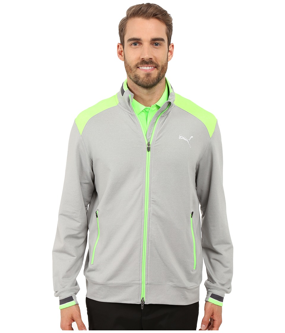 PUMA Golf - Golf Track Jacket (Light Grey Heather) Men's Jacket