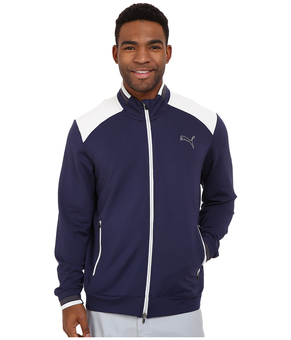 PUMA Golf - Golf Track Jacket (Peacoat) Men's Jacket