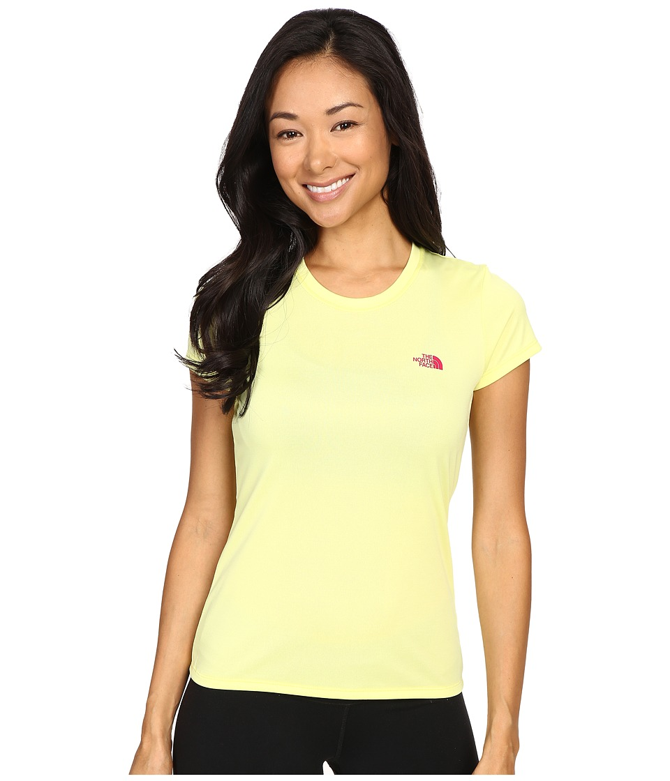 The North Face - Short Sleeve Reaxion Amp Tee (Hamachi Yellow/Raspberry Rose) Women