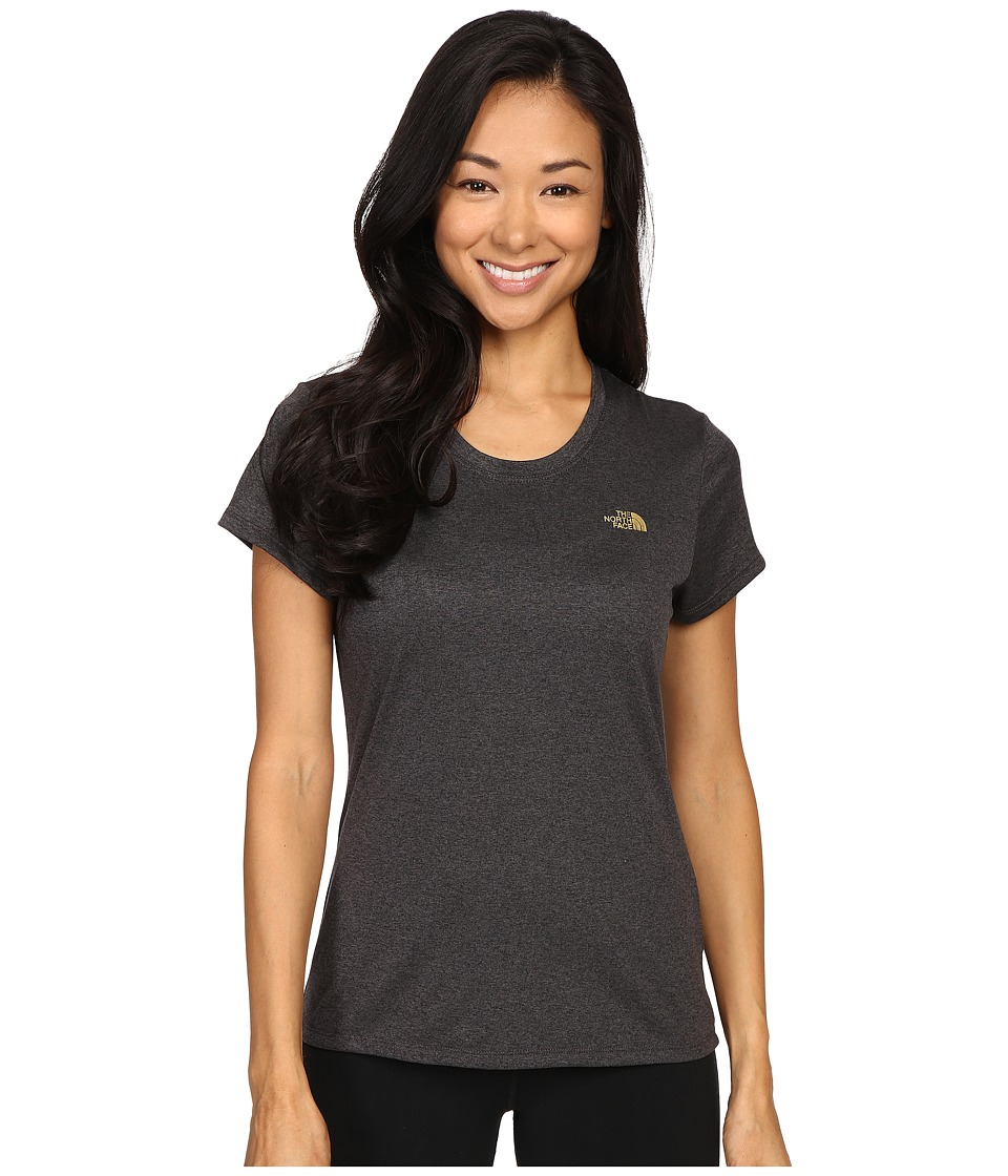 The North Face - Short Sleeve Reaxion Amp Tee (TNF Dark Grey Heather/Gold Foil) Women