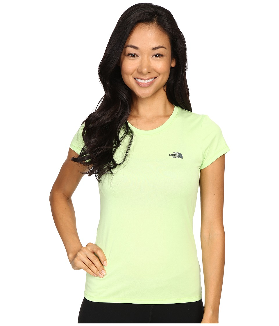 The North Face - Short Sleeve Reaxion Amp Tee (Budding Green/Spruce Green) Women