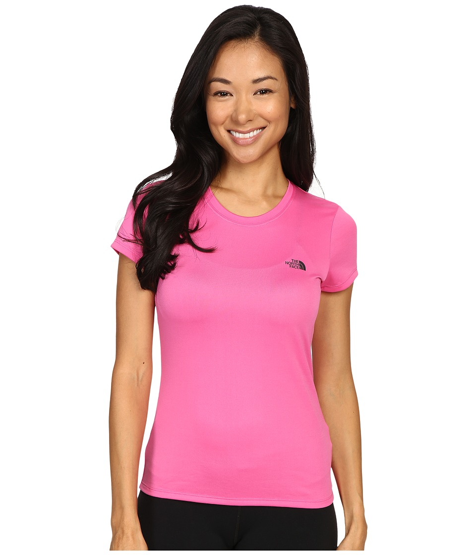 The North Face - Short Sleeve Reaxion Amp Tee (Raspberry Rose/Asphalt Grey) Women's T Shirt