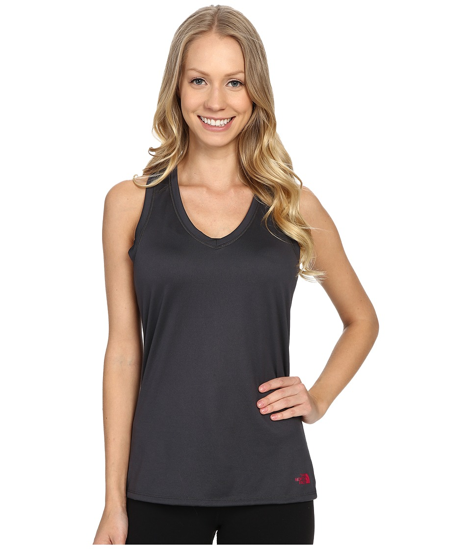 The North Face - Reaxion Amp Tank Top (Asphalt Grey/Raspberry Rose) Women's Sleeveless