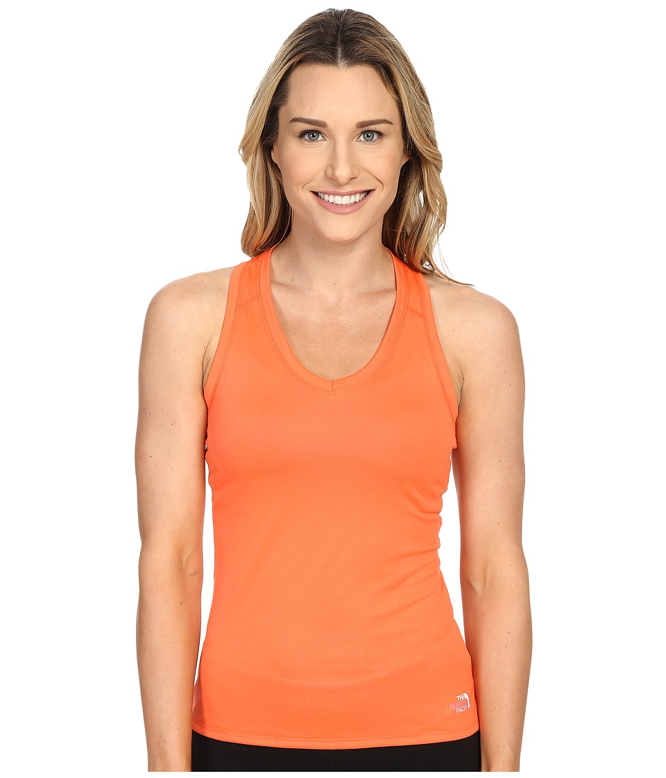 The North Face - Reaxion Amp Tank Top (Radiant Orange/TNF White Multi) Women's Sleeveless