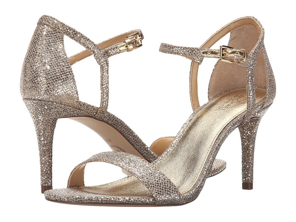 MICHAEL Michael Kors Simone Mid Sandal (Silver/Sand Glitter) Women