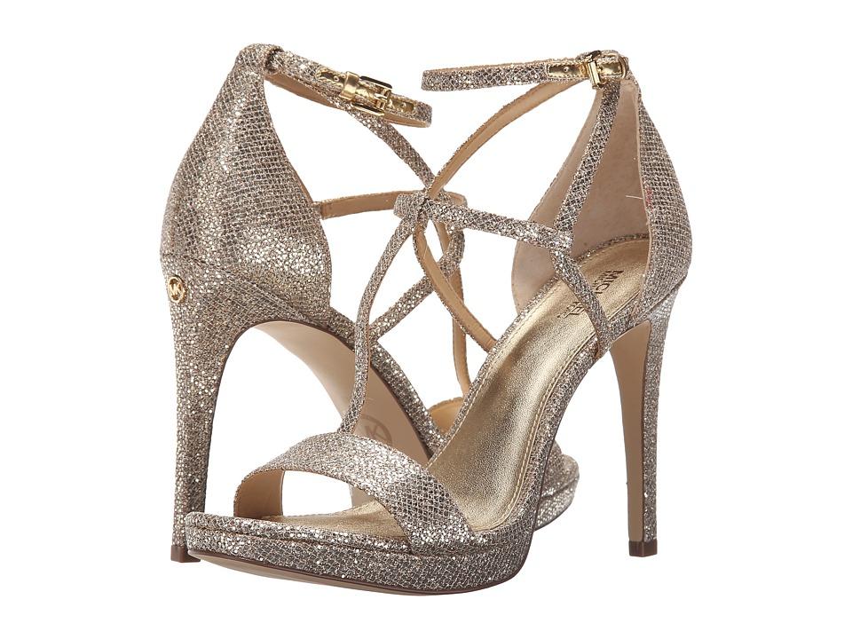MICHAEL Michael Kors - Simone Sandal (Silver/Sand Glitter) Women's Sandals