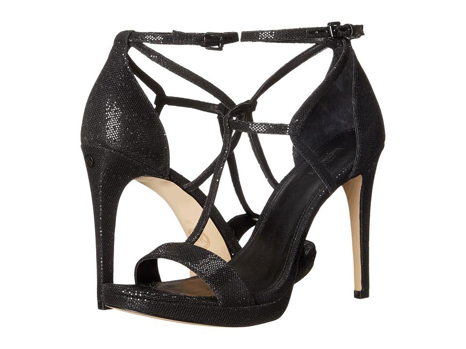 MICHAEL Michael Kors - Simone Sandal (Black/Black Glitter) Women's Sandals