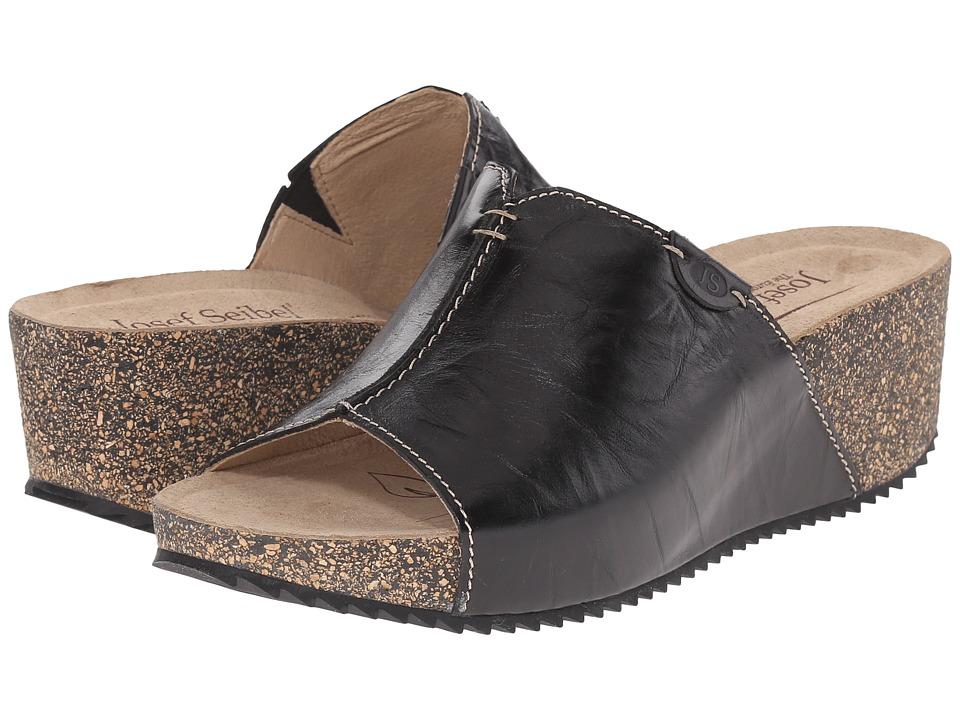 Josef Seibel - Meike 07 (Black) Women's Wedge Shoes