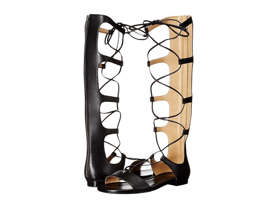 MICHAEL Michael Kors - Sofia Gladiator (Black Vachetta/Nappa) Women's Shoes