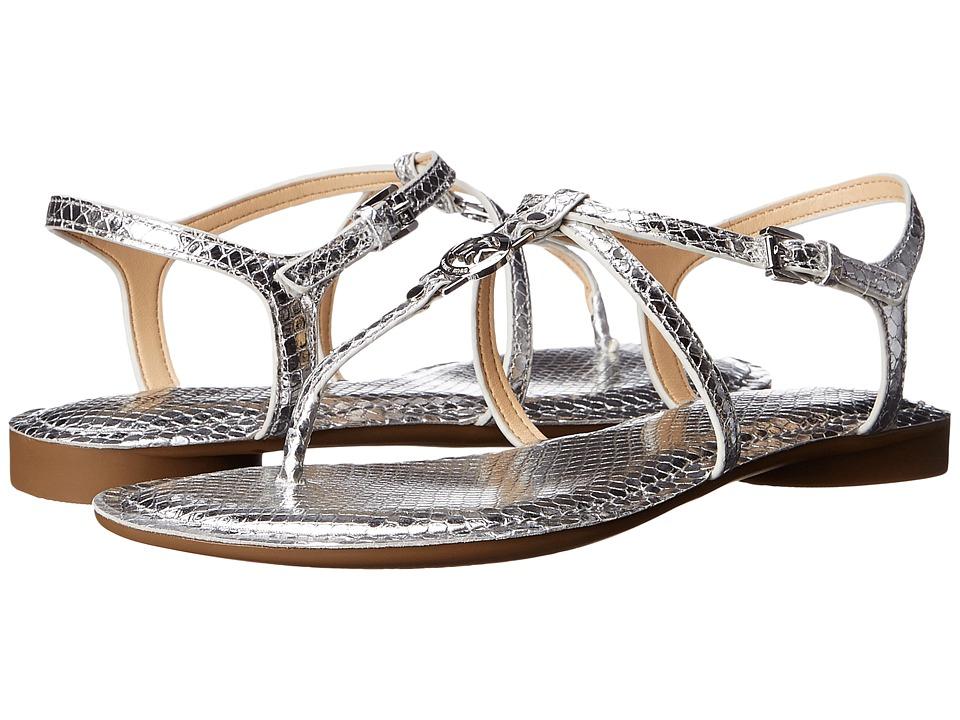 MICHAEL Michael Kors Bethany Sandal (Silver Metallic Snake) Women