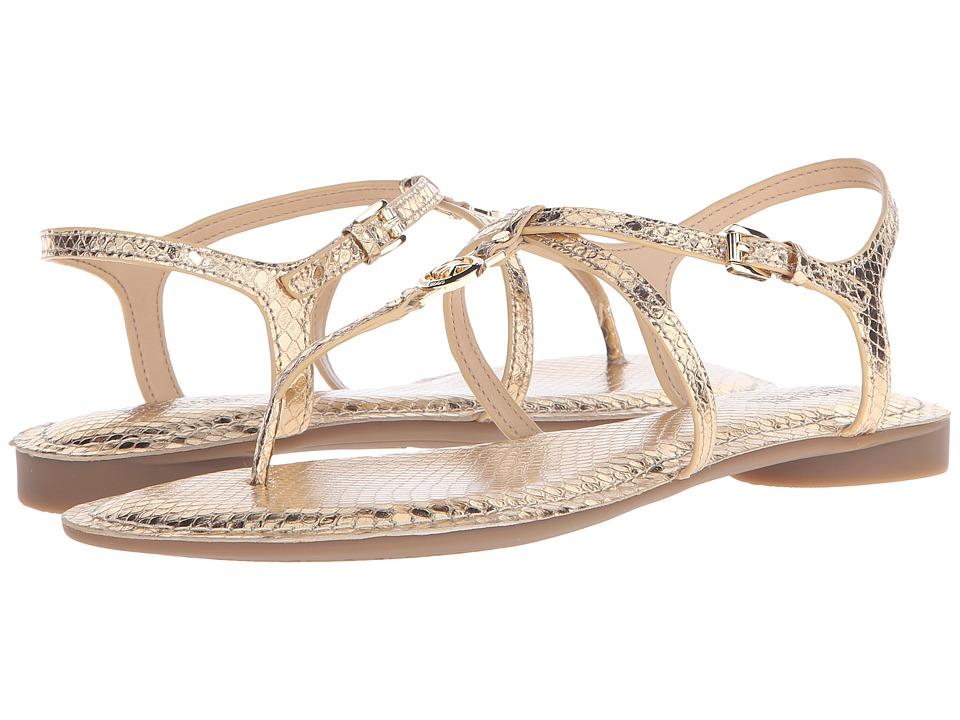 MICHAEL Michael Kors Bethany Sandal (Pale Gold Metallic Snake) Women