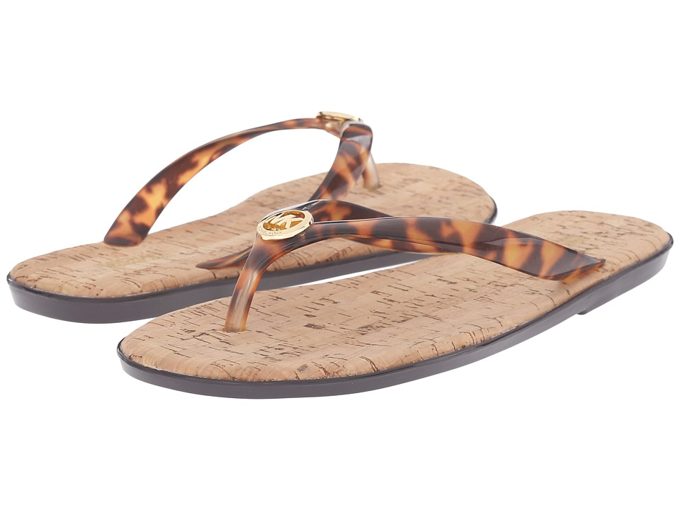 MICHAEL Michael Kors - Jet Set MK Jelly (Tortoise PVC) Women's Sandals