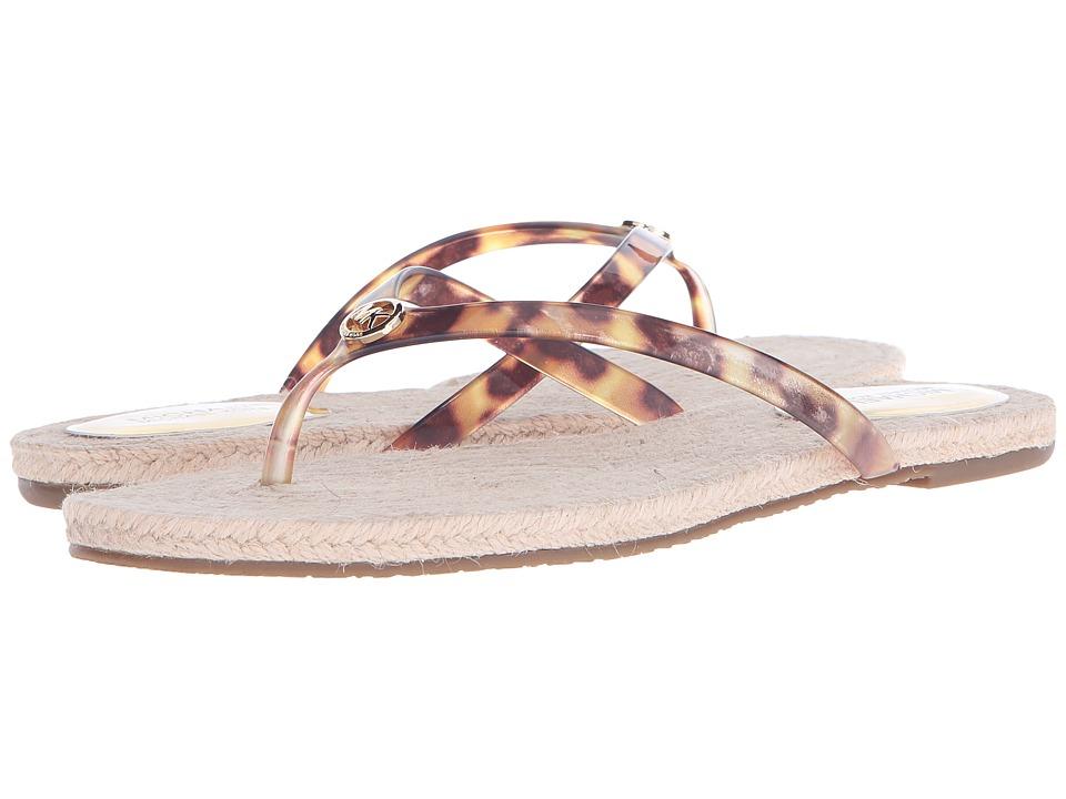 MICHAEL Michael Kors Hazel Thong (Tortoise PVC) Women