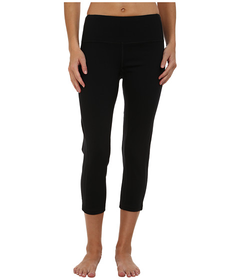 Pink Lotus - Stealth Performance Leggings Lotus Power (Black) Women's Capri