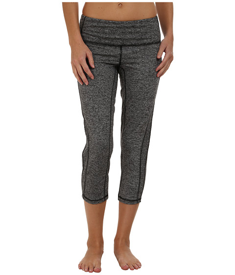 Pink Lotus - Elite Performance Capris Lotus Tech Ultra (Heather Grey) Women's Capri