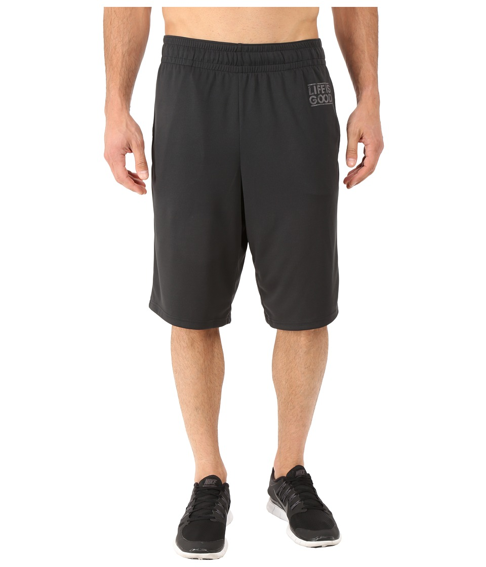 Life is good - LIG Square Knit Beach Short (Night Black) Men's Shorts