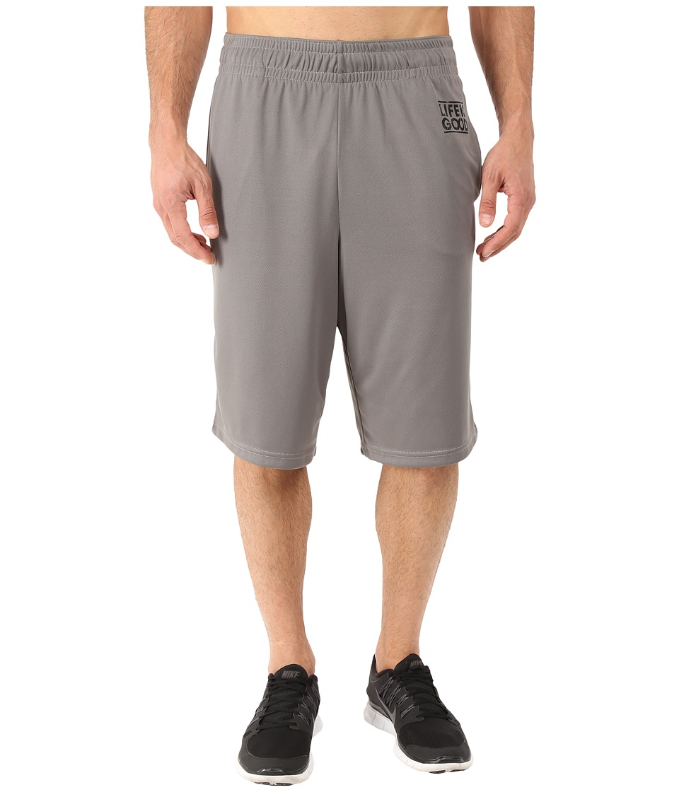 Life is good - LIG Square Knit Beach Short (Slate Gray) Men's Shorts
