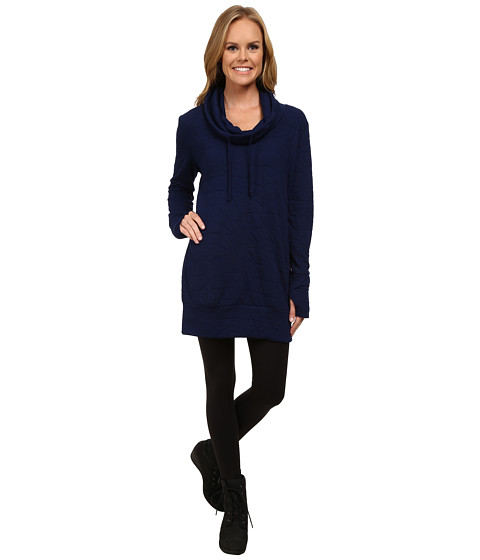 Pink Lotus - Rhythm is a Dancer Turntable Funnel Neck Tunic (Indigo) Women