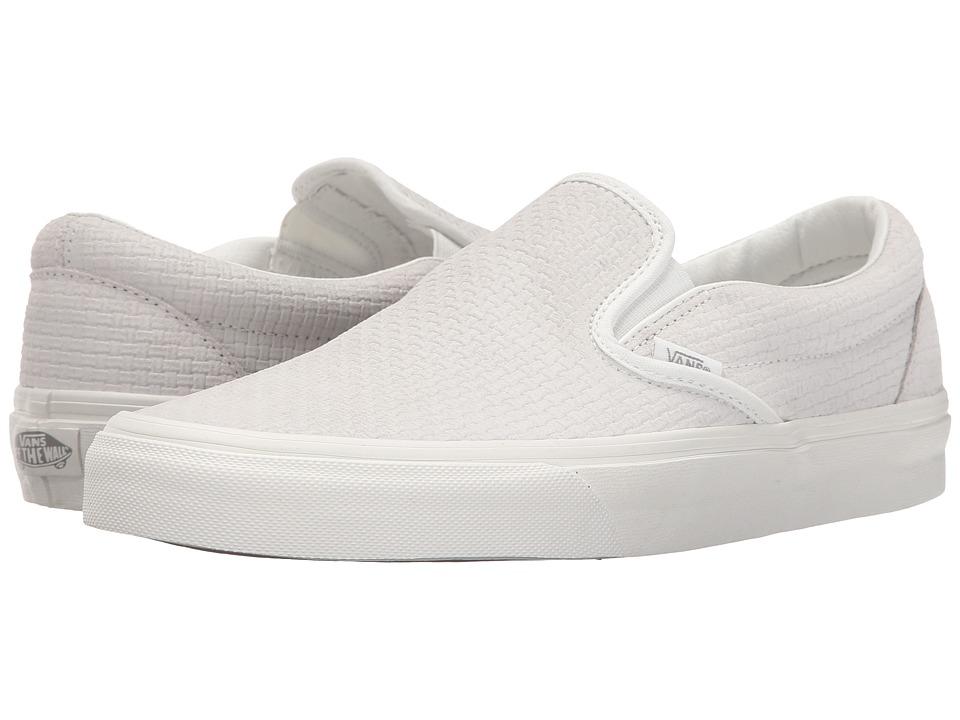 Vans - Classic Slip-On ((Braided Suede) Blanc De Blanc) Skate Shoes