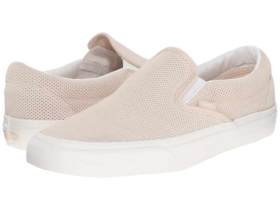 Vans - Classic Slip-On ((Perf Suede) Sand Dollar/Blanc De Blanc) Skate Shoes
