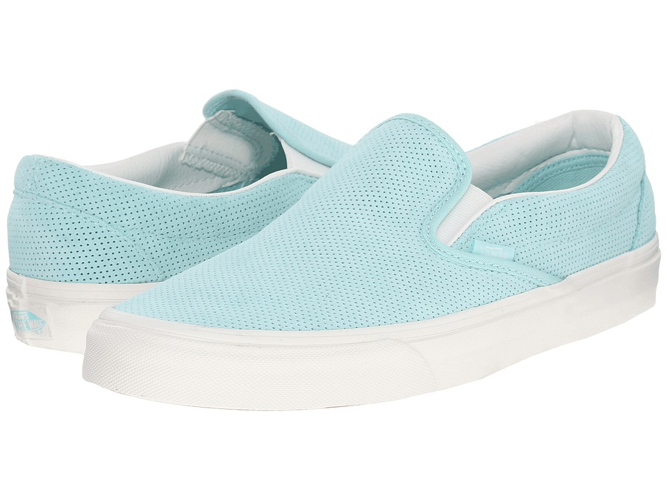 Vans - Classic Slip-On ((Perf Suede) Blue Light/Blanc De Blanc) Skate Shoes