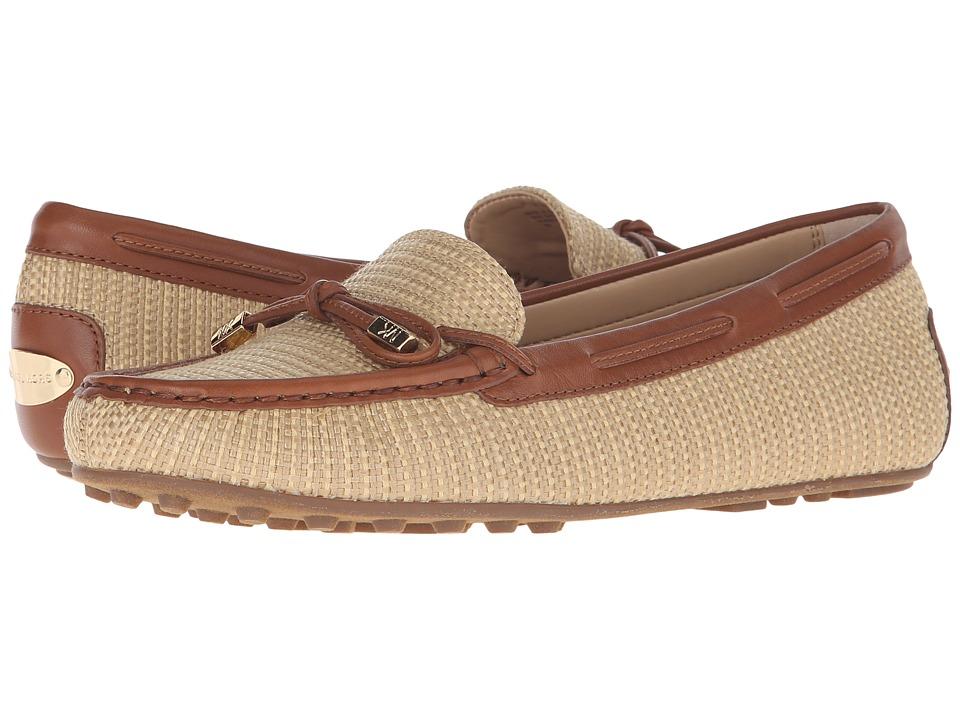 MICHAEL Michael Kors - Daisy Moc (Natural/Luggage Straw/Vachetta) Women's Slip on Shoes