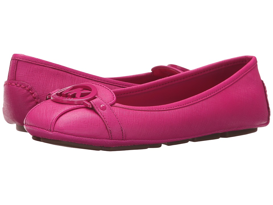 MICHAEL Michael Kors - Fulton Moc (Raspberry Saffiano) Women's Slip on Shoes