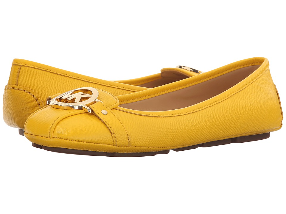 MICHAEL Michael Kors Fulton Moc Sunflower Saffiano Womens Slip on  Shoes