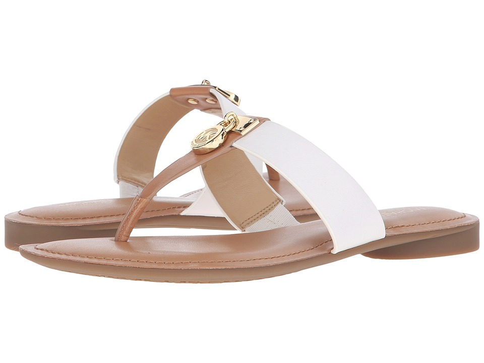 MICHAEL Michael Kors - Hamilton Flat (Sun Tan/Optic White Vachetta) Women's Sandals