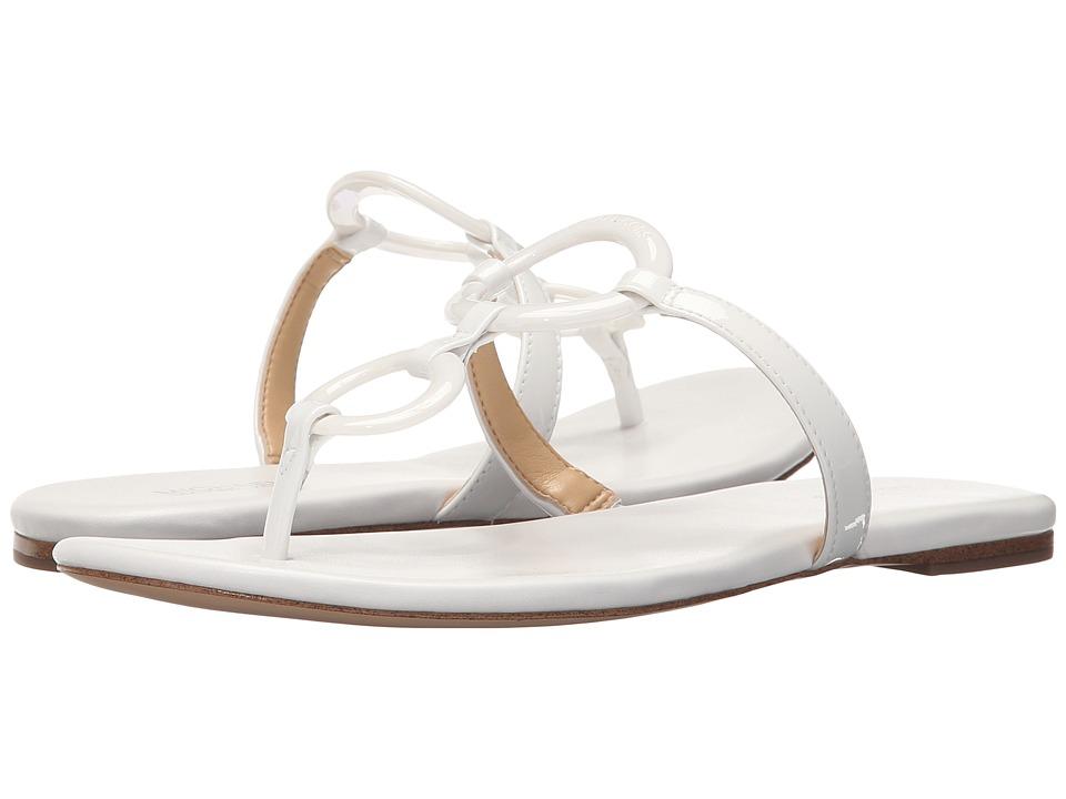 MICHAEL Michael Kors Claudia Flat Sandal (Optic White Patent) Women