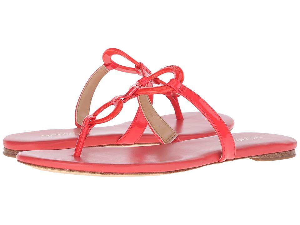MICHAEL Michael Kors - Claudia Flat Sandal (Coral Reef Patent) Women's Sandals