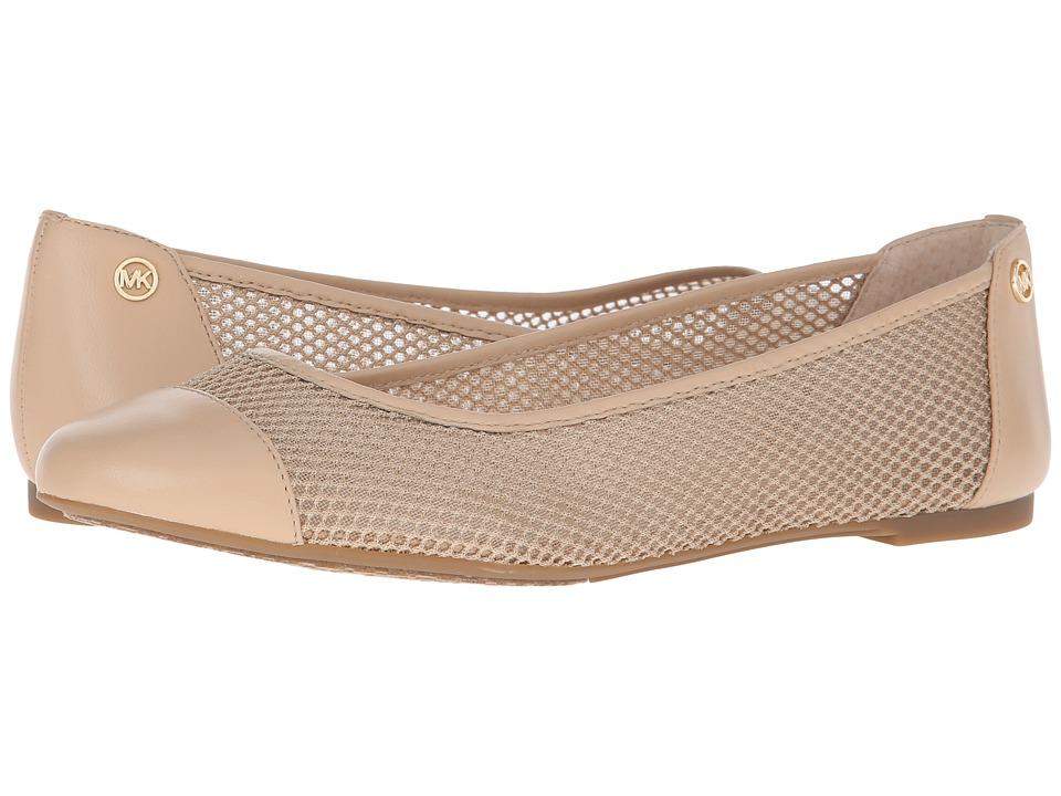 MICHAEL Michael Kors - Joni Ballet (Nude Mesh/Nappa) Women's Shoes