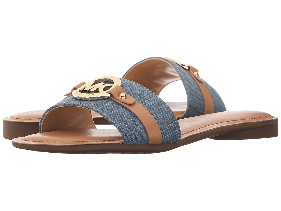 MICHAEL Michael Kors - Molly Slide (Washed Denim Vachetta) Women's Shoes