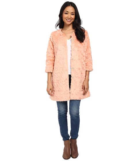 Brigitte Bailey - Aviana 3/4 Sleeve Faux Fur Coat (Light Pink) Women's Coat