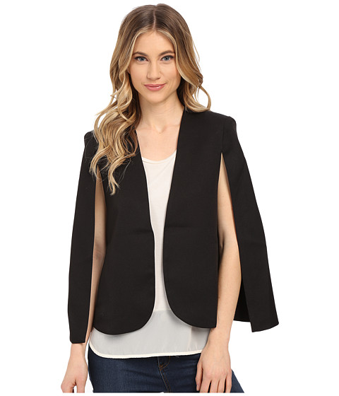 Brigitte Bailey - Kali Cape Blazer w/ Pockets (Black) Women