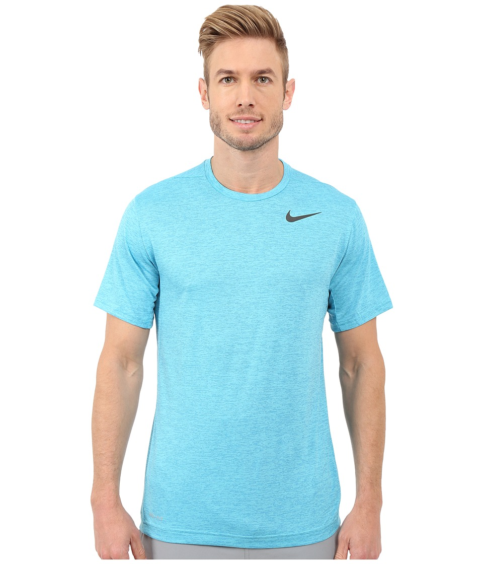 Nike Dri-FIT Training Shirt (Omega Blue/Heritage Cyan/Black) Men