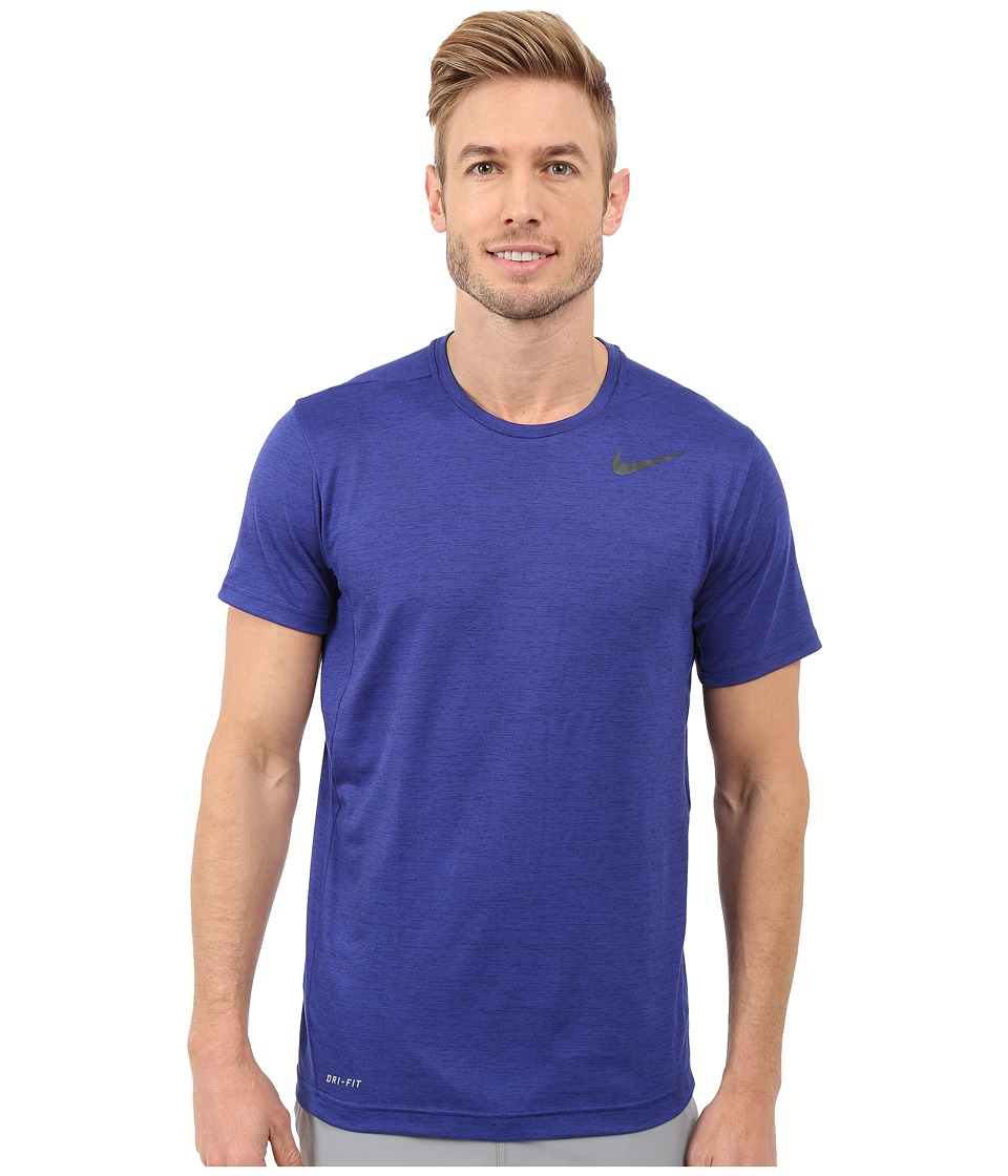 Nike Dri-FITtm Training Shirt (Deep Royal Blue/Obsidian/Black) Men