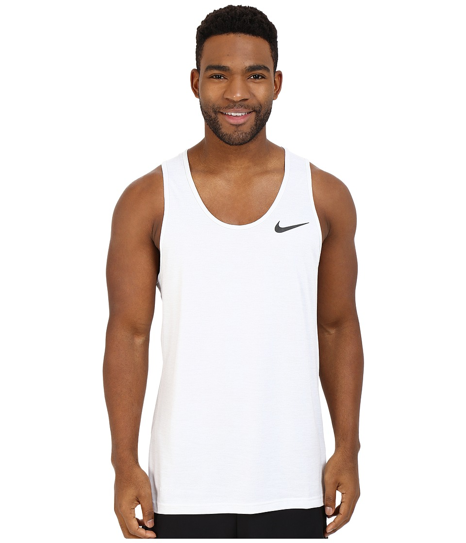 Nike - Dri-FIT Training Tank Top (White/Pure Platinum/Black) Men's Sleeveless