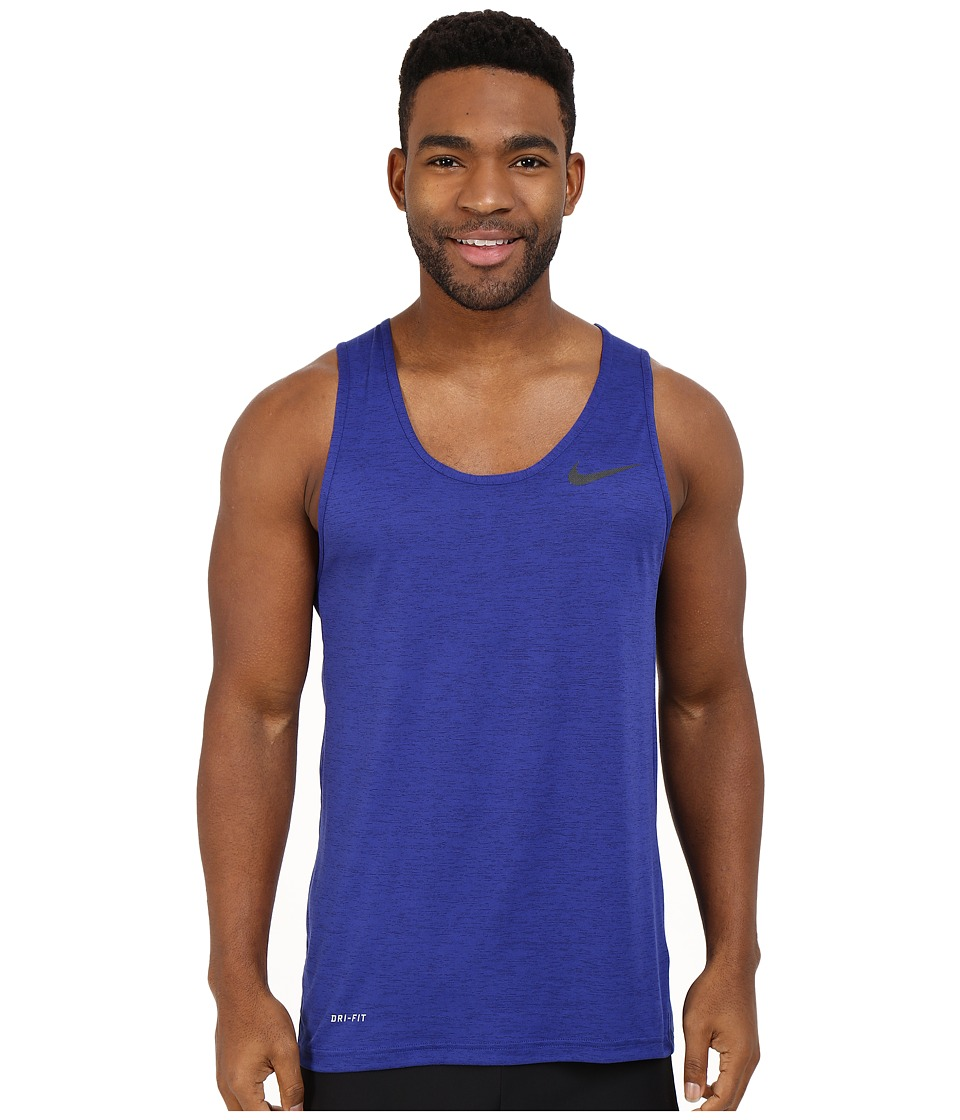 Nike - Dri-FIT Training Tank Top (Obsidian/Deep Royal Blue/Black) Men's Sleeveless