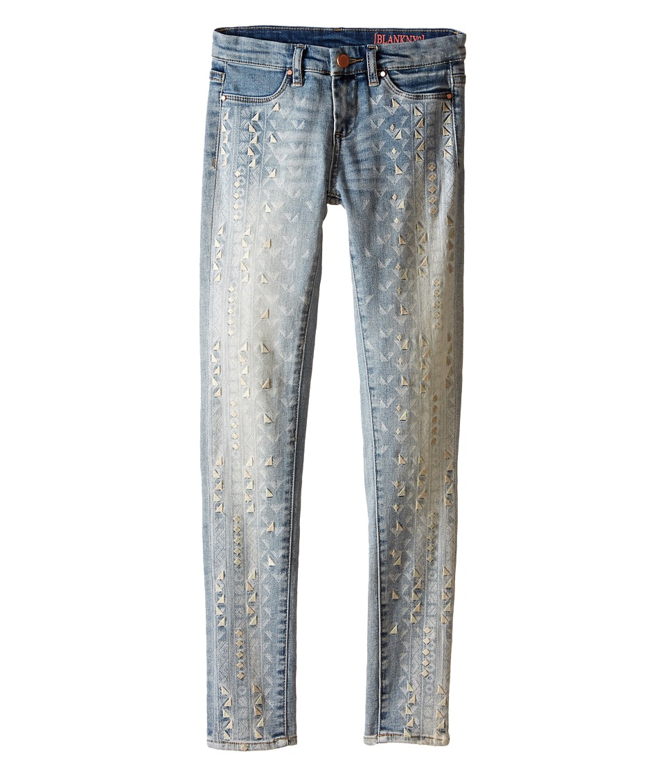 Blank NYC Kids Denim Embroidered Detail Jeans in Open Minded (Big Kids) (Open Minded) Girl