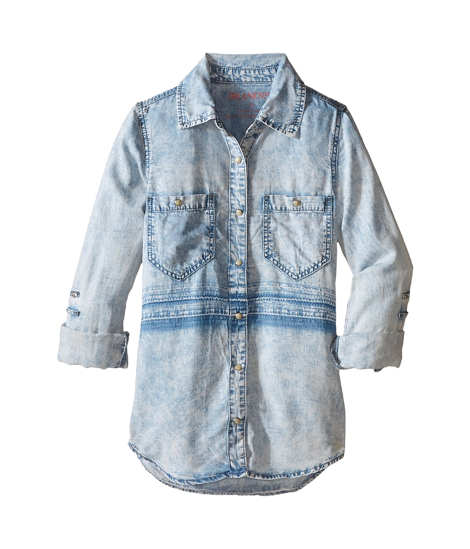 Blank NYC Kids - Light Wash Shirt with Detail (Big Kids) (Up In The Air) Girl's Clothing