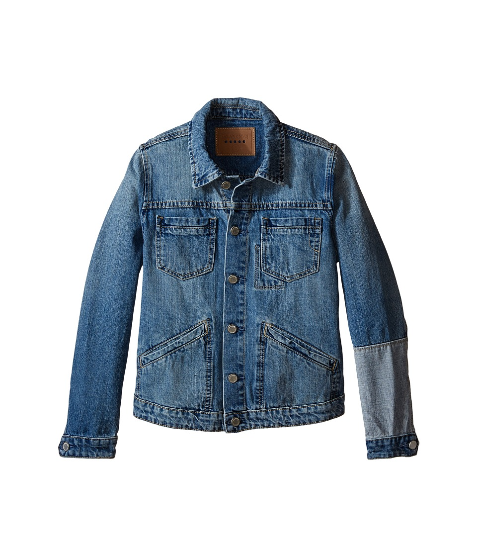 Blank NYC Kids - Denim Jacket with Patchwork Detail (Big Kids) (One and Only) Girl's Coat