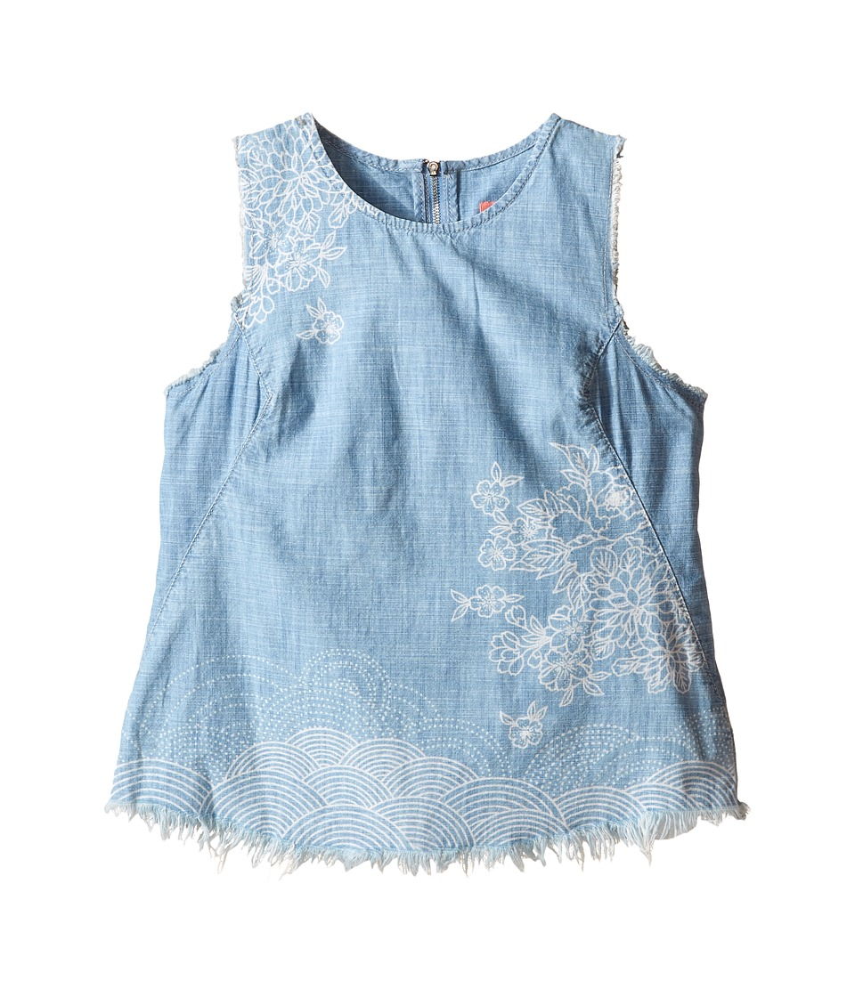 Blank NYC Kids - Denim Sleeveless Designed Shirt (Big Kids) (The Great Wave) Girl's Sleeveless