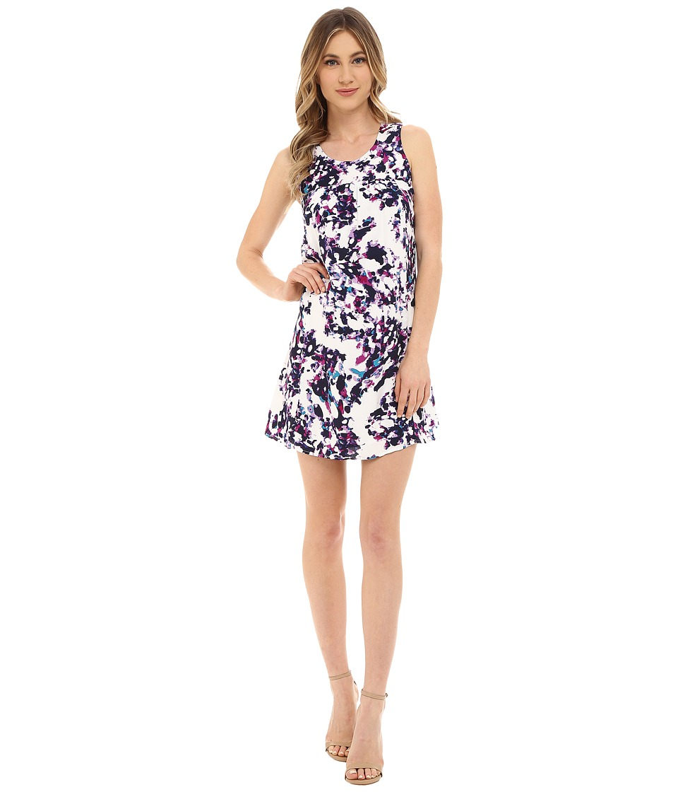 Olive & Oak - Multi Print Dress (Lavender Cloud Multi) Women's Dress