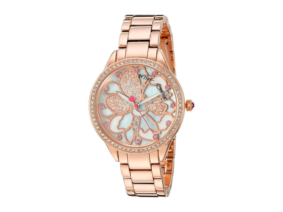 Betsey Johnson - BJ00572-01 - Rose Gold Flower (Rose Gold) Watches