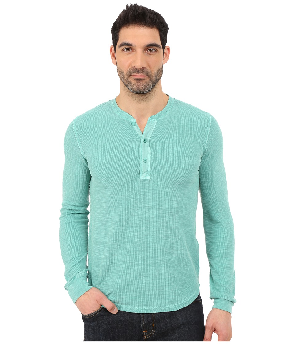 Lucky Brand - Long Sleeve Waffle Henley (Dragonfly) Men