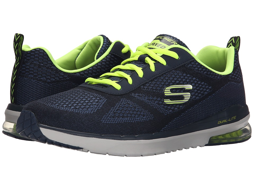 SKECHERS - Sketch Air Infinity (Navy/Yellow) Men's Shoes