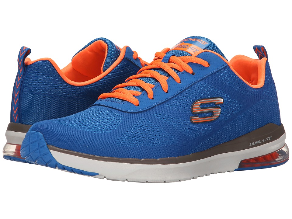 SKECHERS - Sketch Air Infinity (Royal/Orange) Men's Shoes